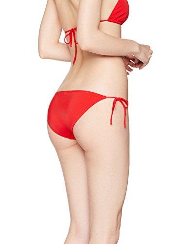 IRIS & LILLY Braguita de Bikini con Cordones para Mujer Rojo (Sports Red)