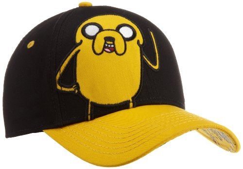 Adventure Time Big Boys' Jake Youth Hat, Black, One Size (And Hat Finn Jake)