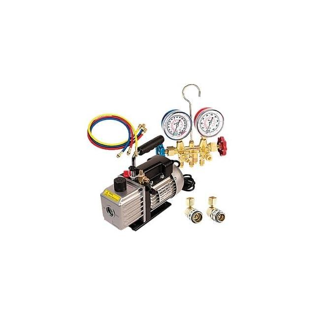 FJC9281 3.0 CFM Vacuum Pump & R134a Manifold Gauge Set