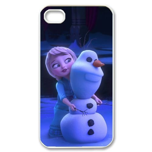 Snowman Olaf Hard Plastic Snap-On Case Skin Cover For iPhone 4 4S White LPA1954