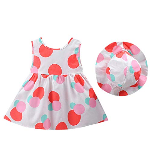 After Six Empire Waist Bridesmaid Dress - LiLiMeng 2019 New Toddler Kid Baby Girl Dot Printed Sleeveless Bow Princess Ruched Dress+Hat Outfits Set Casual Clothes