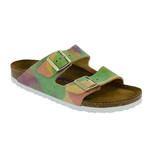 New Birkenstock Arizona SFB Summer Breeze Nubuck 37/6-6.5 N Womens Sandals