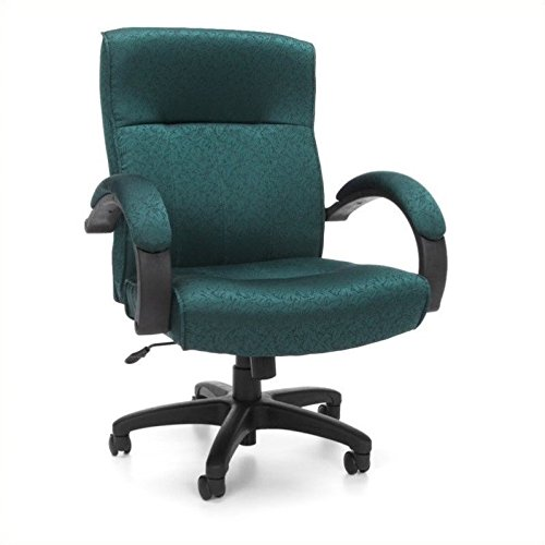 (OFM Stature Series Upholstered Mid Back Executive Chair - Fabric Conference and Office Chair, Teal (453-302))