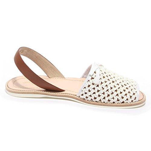 Woman Shoe Sandalo Rafia Bianco Donna Car Bianca B2422 Stuoia Scarpa 8HPvZ
