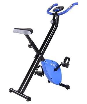 KMS FoxHunter – Bicicleta estática plegable plegable magnético X-Bike Fitness entrenamiento de Cardio Trainer