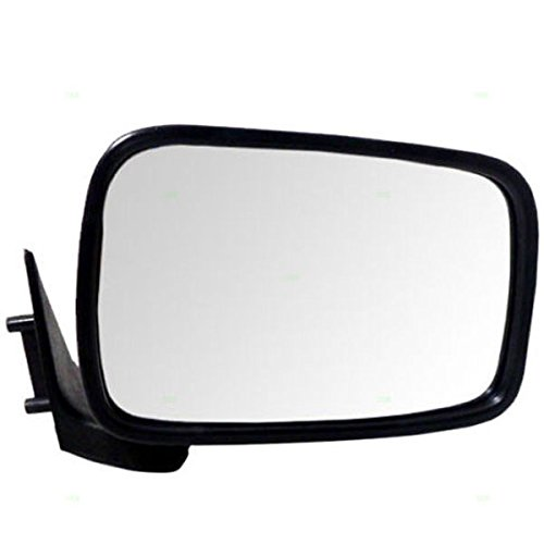 86-93 Mazda Pickup Truck Black Manual Rear View Door Mirror Right Passenger Side