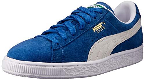 PUMA Suede Classic Sneaker,Olympian Blue/White,11.5 M US Men