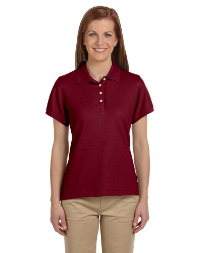 Chestnut Hill Ladies' Performance Plus Pique Polo, Merlot, 2XL ()
