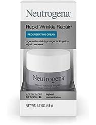 Neutrogena Rapid Wrinkle Repair Retinol Regenerating Face Cream & Hyaluronic Acid Anti Wrinkle Face Moisturizer, Neck Cream, with Hyaluronic Acid & Retinol, 1.7 Ounce (Pack of 1)