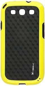 Tecnología Megix Caballero serie Flexible carcasa de TPU para Samsung Galaxy S3–Embalaje de venta–amarillo