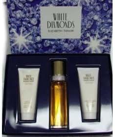 White Diamonds Gift Set From Elizabeth Taylor 3.4 Oz 3 pcs