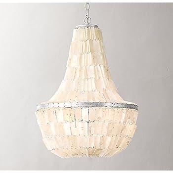 Kouboo manor capiz chandelier amazon sky empire chandelier rectangular coastal capiz shells teenage princess room aloadofball Images