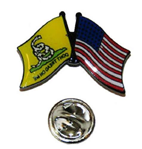 - Mikash USA American Gadsden Dont Tread on Me Friendship Flag Bike Hat Cap Lapel Pin | Model FLG - 2110