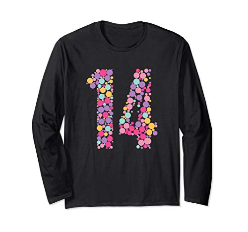 14 Years Old 14th Birthday Cool Gift Idea Long Sleeve T-Shirt]()
