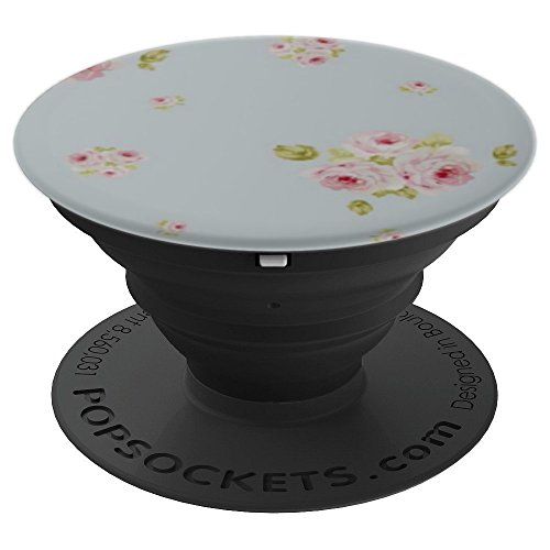 Vintage Rose Wallpaper - Red Pink White Rose Vintage Wallpaper Flowers - PopSockets Grip and Stand for Phones and Tablets
