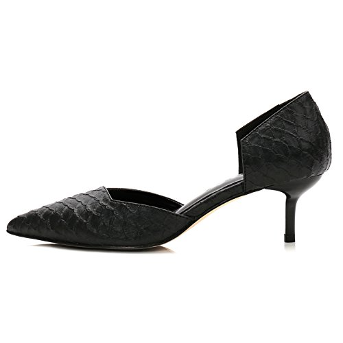 GAOLIM Tip Of The High-Heel Shoes Autumn 5Cm, And The Fine Work With Black Shoes With A Low, Single Shoes,38, Black