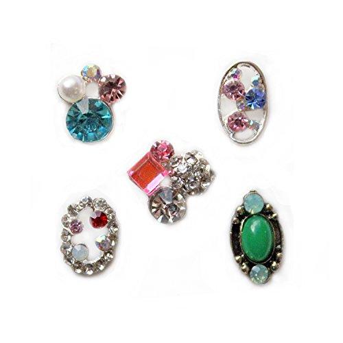 Winstonia Crystal Rhinestones Elegant Assorted 3D Charms Nail Art Decoration Bling Rhinestone Bead Decor