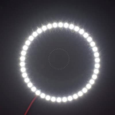 2PCS x Car Led Headlight 60mm 3528 18-SMD Angel Eyes Halo Ring Light (White): Automotive