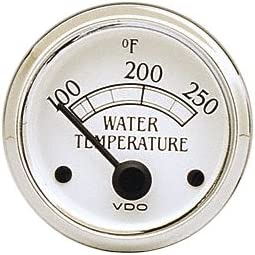 VDO 310710 Cockpit Royale Style Electrical Water Temperature Gauge 2 1//16 Diameter 250F