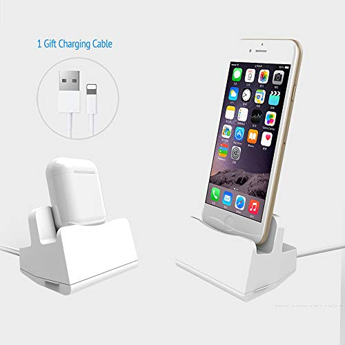 - Sincetop Charging Stand Compatible Airpods Charging Dock & iPhone Docking Station - Poratble Desktop Charging Station for Apple Airpods with Case and iPhone X / 8/8 Plus / 7/7 Plus / 6 Plus/iPod