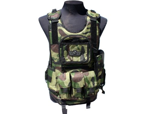GXG Army Swat Paintball Airsoft Tactical Vest - Paint Airsoft Camo