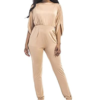 Wholesale XQS Womens Half Sleeve Baggy Jumpsuit Plus Size Siamese Pants free shipping