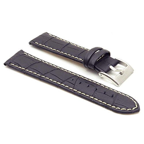 StrapsCo Premium Croc Embossed Leather Watch Strap