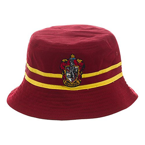 (Harry Potter Reversible Gryffindor and Slytherin Bucket Hat)