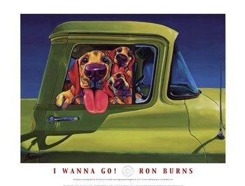 I Wanna Go! - Pop Art Poster by Ron Burns (24 x 18)