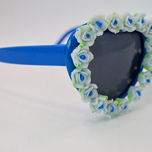 Lunettes Bleu Coeur Soleil Anti AiSi de de en Fashion Femme Forme UV 56q6PB4
