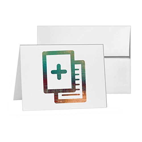 Share Files Sharing Pencil Paper, Blank Card Invitation Pack, 15 cards at 4x6, Blank with White Envelopes Style (File 4 Share)