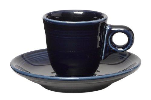 Fiesta 2-1/2-Ounce A.D. Demitasse Cup and Saucer, Cobalt ()