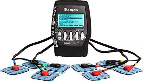 Compex Sport Elite Electronic Muscle Stimulator Kit with Easy Snap Performance Electrodes