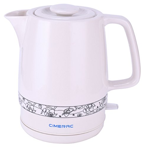 tric Kettle with Boil Dry Protection,1.7 Liter Boiling Pot for Tea and Coffee (White) ()
