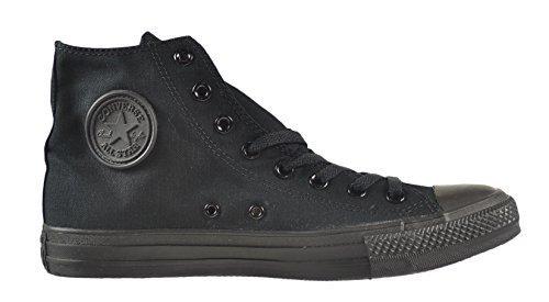 Converse Unisex Chuck Taylor All Star High Top Black Monochrome Shoes, 12 B(M) US Women / 10 D(M) US Men