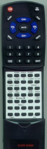 SONY Replacement Remote Control for STRDE445, 141883311, RMU304, HT5000D -  Redi-Remote, RT141883311