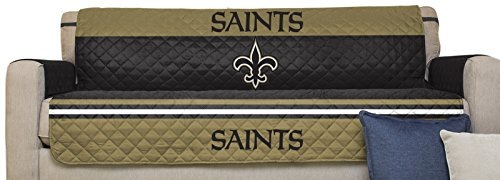 NFL New Orleans Saints Sofa Couch Reversible Furniture Protector With  Elastic Straps, 75 Inches
