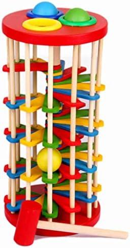 minansostey Kids Wooden Batting Ladder Hand Hitting Ball Toys Children Education Toy