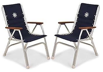 FORMA MARINE Juego de 2 sillas de respaldo alto, sillas de ...