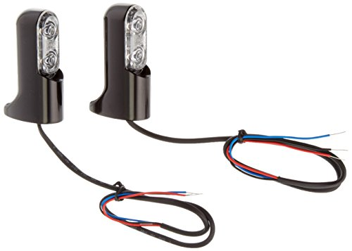 Arlen Ness 12-744 Black Bolt-On Turn Signal with Power LED Accent