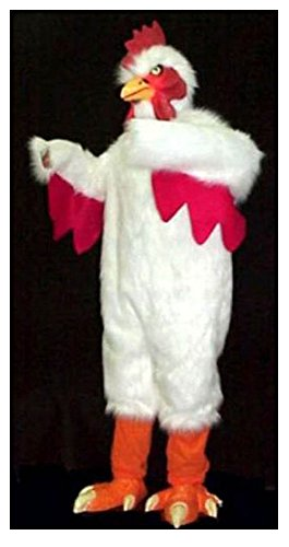 Professional Adult Size White Chicken Costume ()