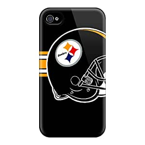 Tpu Case Cover For Iphone 4/4s Strong Protect Case - Pittsburgh Steelers Design