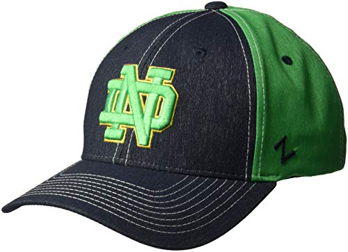 Zephyr NCAA Notre Dame Fighting Irish Men's Clash Waterproof Performance Cap, Medium/Large, -