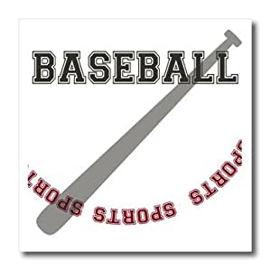 ht_123726_1 PS Creations - Baseball Bat sports theme art - Iron on Heat Transfers - 8x8 Iron on Heat Transfer for White Material