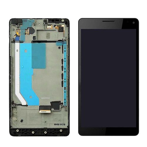 For Nokia Microsoft Lumia 950XL LCD Touch Screen Frame Digitizer Assembly +Tools(Only FBA) (Black) by Generic