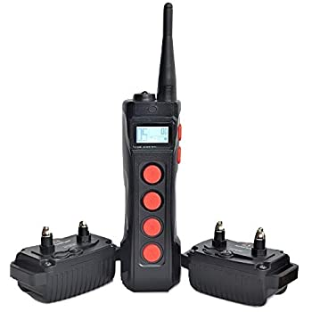 Image of Pet Supplies Aetertek AT-919C 2-Dog 1100 Yard Ultra Range Remote Training Shock Collar with AUTO Anti-BARK,Rechargeable and Waterproof