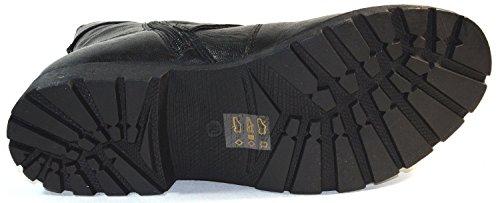 SPM KA14033988 Damen Stiefeletten Biker Boots Used Look black (37)