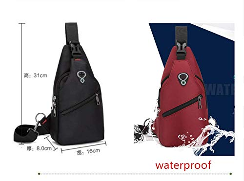 a05536f1677d Sling Bags Chest shoulder Bags for Men Women-Rophie Sling Travel Chest Bag  Cross Body Bag School Bag for Cycling Hiking Camping Gym  Amazon.co.uk   Sports   ...