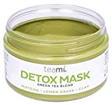 DETOX FACE MASK By Teami | Our 100% Best Green Tea Facial Care Mud Masks with Bentonite Clay for a Natural, Hydrating Cleanse of Dry Skin that Removes Blemishes | Antioxidant, Moisturizing Anti-aging