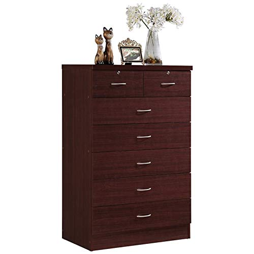 (Pemberly Row 7 Drawer Chest in Mahogany)